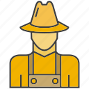 avatar, face, farmer, man, people, person, profile icon