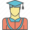 avatar, face, graduation, people, person, profile icon