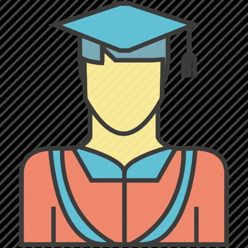 avatar, face, graduation, people, person, profile icon