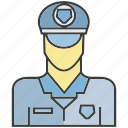 profile, police, people, face, person, avatar
