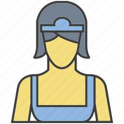 avatar, housekeeper, maid, people, person, profile, woman icon