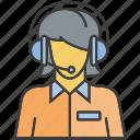 avatar, face, operator, people, person, profile, woman icon