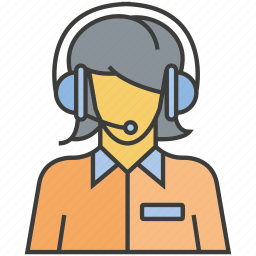 avatar, face, operator, people, person, profile, woman icon