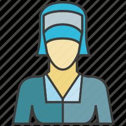 avatar, face, nun, people, person, profile, woman icon