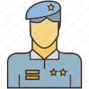 avatar, face, people, person, police, profile, soldier icon