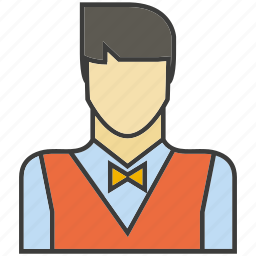 avatar, face, people, person, profile, serviceman, waiter icon