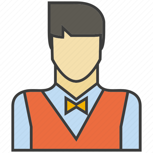 avatar, face, people, person, profile, serviceman, waiter icon