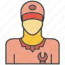 avatar, face, people, person, profile, service, serviceman icon