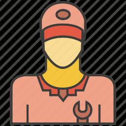 avatar, face, people, person, profile, service, serviceman icon
