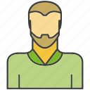 avatar, beard, face, people, person, profile icon