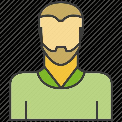 avatar, beard, face, people, person, profile icon
