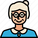 old, woman, people, avatar, user, profile, family