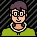 man, nerd, people, avatar, user, profile, family
