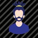 avatar, beard, character, dreadlocks, man, millennial, people