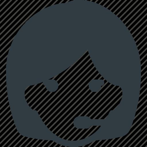 avatar, dispatcher, female, head, people icon