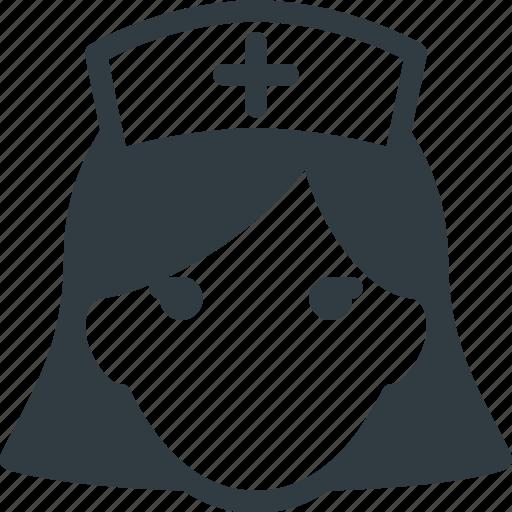 avatar, head, medical, nurse, people icon