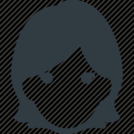 avatar, female, head, people, woman icon