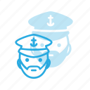 avatar, captain, head, people, saylor, see, ship icon