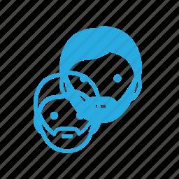avatar, beard, head, hypster, male, man, people icon