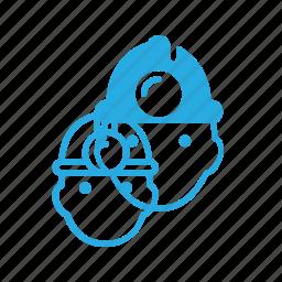 avatar, head, miner, people icon