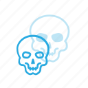 avatar, head, people, skeleton, skull icon