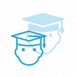 avatar, graduate, graduation, hat, head, people, stydent icon