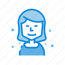 avatar, business, chart, female, midlle, user, woman icon