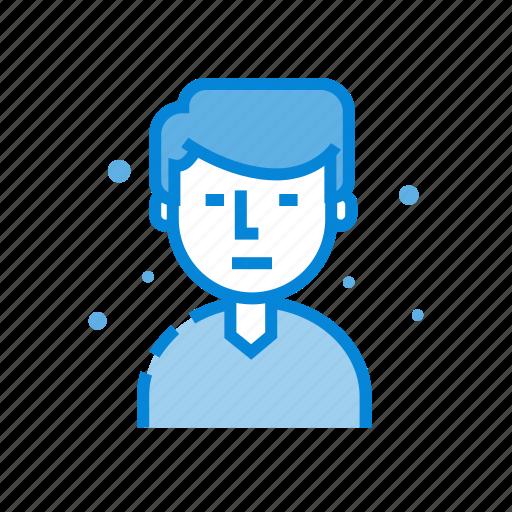 avatar, emoticon, face, hair, male, man icon