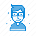 avatar, glasses, human, male, man, user icon