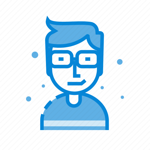 avatar, glasses, human, male, man, user icon