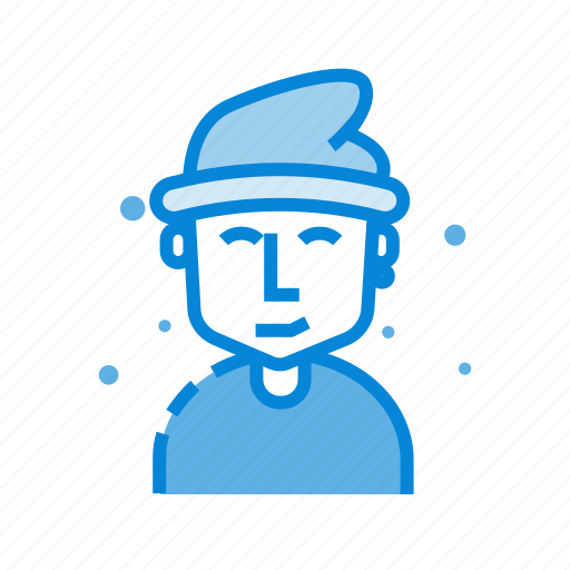 avatar, fashion, hat, male, man icon