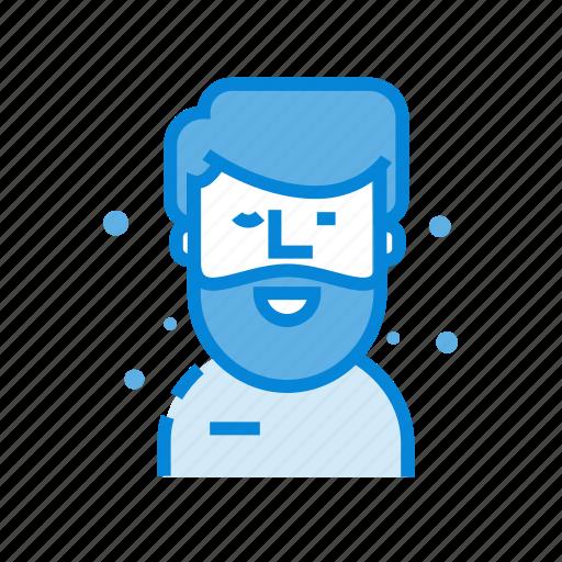 avatar, bird, male, man icon