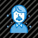 avatar, business, male, man, chart, people