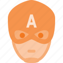 america, avatar, captain, head, hero, marvel, people icon