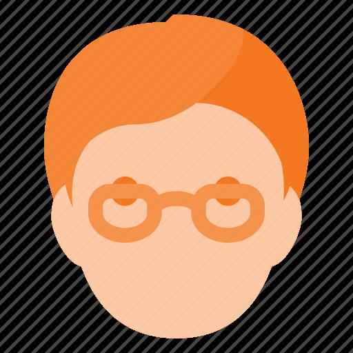 avatar, geek, glases, head, people icon