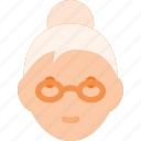 avatar, head, lady, old, people, woman icon