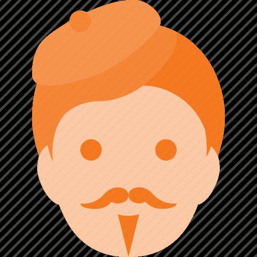 artist, avatar, head, male, people icon