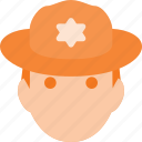 avatar, head, people, ranger, scout, sheriff icon