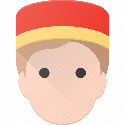 avatar, bell, bellboy, boy, carry, hotel, people icon