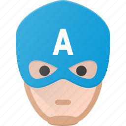 america, avatar, captain, head, hero, marvel, people icon