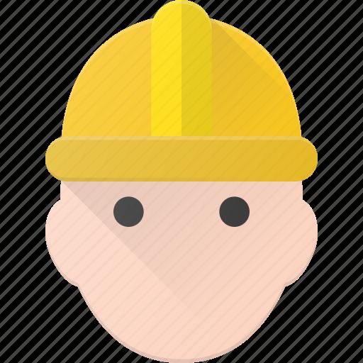avatar, head, helmet, man, people, protect, worker icon