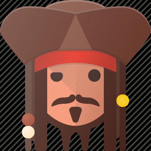 avatar, captain, head, jack, people, pirate, sparrow icon