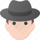 avatar, hat, head, male, man, people icon