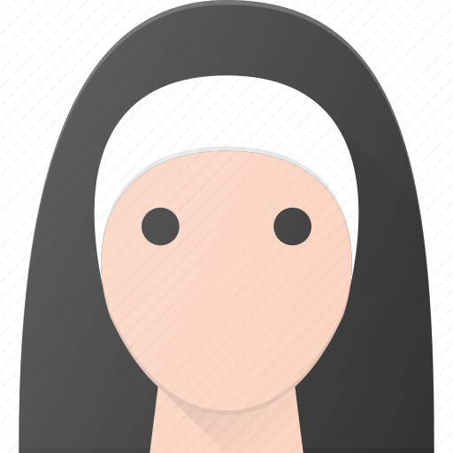avatar, christian, head, nun, nurse, people, sister icon