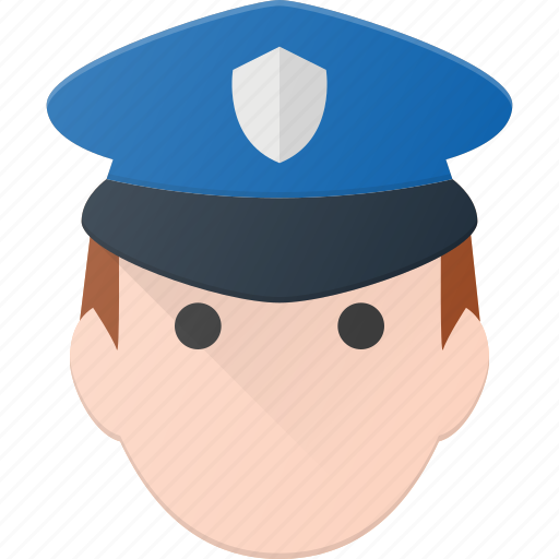 avatar, cop, head, man, people, police icon