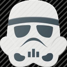 avatar, head, people, star, storm, trooper, wars icon