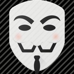 anonymus, avatar, head, people, v, vendetta icon