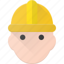 avatar, head, helmet, man, people, protect, worker