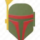 avatar, boba, fet, head, people, star, wars icon