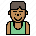 athletic, avatar, basketball, boy, competition, man, people, player, sports, sporty icon